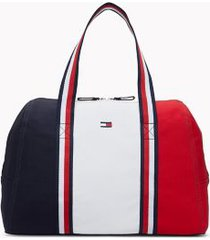 tommy hilfiger women's colorblock duffle bag navy/red/ white -