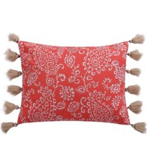 "cape road 14"" x 18"" paisley decorative pillow with tassels"