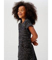 tweed jurk met zakken