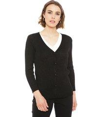 sweater ash negro - calce ajustado