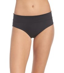 women's nike full bikini bottoms, size medium - black