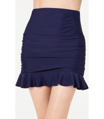 island escape control ruffled skirtini bottoms, created for macy's women's swimsuit