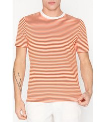 selected homme slhtheperfect stripe ss o-neck tee t-shirts & linnen orange