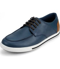 zapato casual y oxfords azul-miel-blanco colore