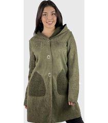 abrigo mujer gamuza con capucha boho chic enigmática boutique