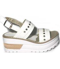 sandalia blanca morena bsas