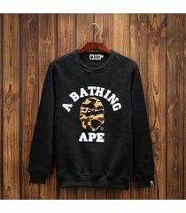 hot sweater long sleeve hoodie a bathing ape bape shark camouflage hooded casual