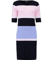 jurk donkerblauw streep