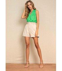 blusa vanibele body verde - verde - feminino - dafiti