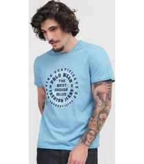 camiseta polo wear lettering azul