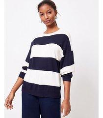 loft petite striped poncho sweater