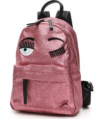 chiara ferragni glitter flirting small backpack