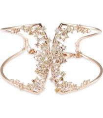 'birdy' diamond 18k rose gold cutout bracelet