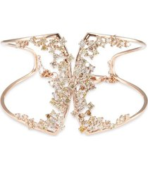 'birdy' diamond 18k rose gold cutout bracelet