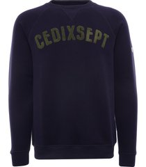 c17 jeans - cedixsept script sweatshirt | navy/green | cds51393-nvy