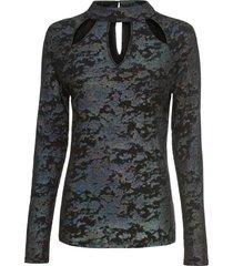 maglia a costine con cut-out (grigio) - rainbow
