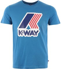 k-way pete macro logo t-shirt - blue k009ff0