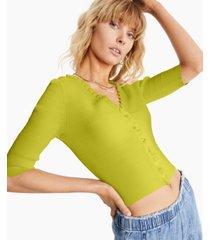 inc ruffle-trim cardigan, created for macy's