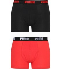 puma puma basic boxer 2p boxershorts black/red