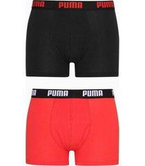 puma puma basic boxer 2p boxershorts black/red