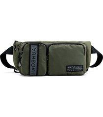 uomo nylon impermeabile sport phone borsa outdoor multi-funzione crossbody borsa