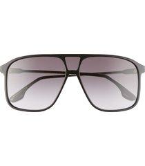 women's victoria beckham 60mm gradient flat top sunglasses -