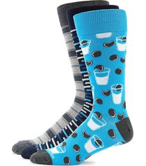 unsimply stitched men's 3-pack cookie & milk crew socks