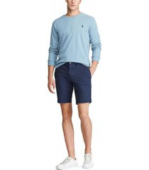 shorts cotton stretch azul polo ralph lauren