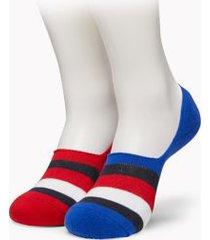 tommy hilfiger men's no-show socks 2pk apple red/ multi -