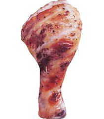 pierna de pollo simulado estuche lápiz lindo bolso bolsa de pluma crea