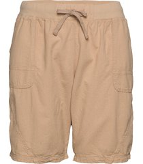 shorts, above knee shorts flowy shorts/casual shorts beige zizzi