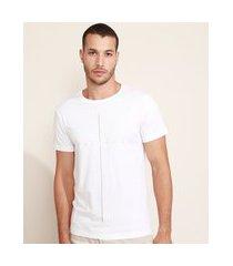 "camiseta masculina slim believe"" cruz manga curta gola careca branca"""
