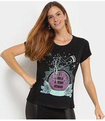 camiseta t-shirt carmim estampa cristais feminina