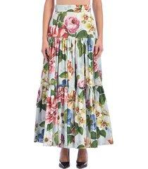 dolce & gabbana round floral skirt