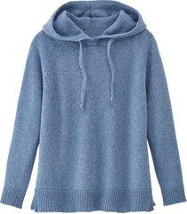 pullover met capuchon, jeansblauw 40/42
