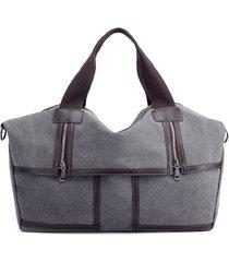 borsa a tracolla casuale della borsa a tracolla della tela di canapa dell'annata di grande capacità per le donne