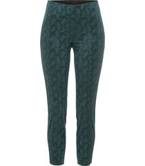 pantaloni stretti pitonati (verde) - bodyflirt
