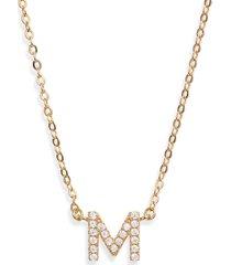 women's nordstrom delicate cubic zirconia initial pendant necklace