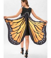 butterfly drop waist mini tank dress