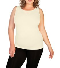 skinnytees plus mesh v-neck tank