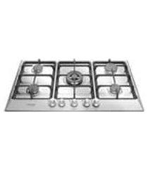 cooktop home pro cor inox a gas 5 queimadores electrolux, acendimento super automatico, valvula corta gas e mesa sem furacao.