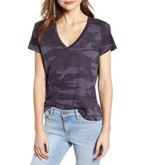 splendid camo cotton tee, size x-large in vintage ink at nordstrom