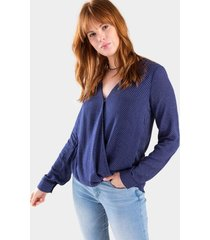 amalie surplice blouse - navy