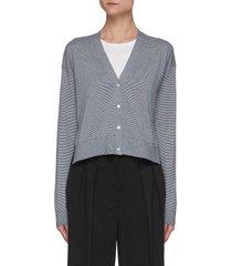 'hanelee' stripe cotton blend cardigan