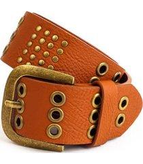cinturón ojetillos marrón humana