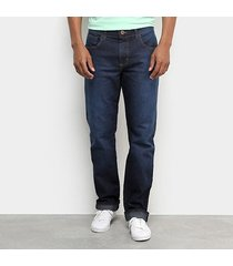 calça jeans reta forum history estonada masculina