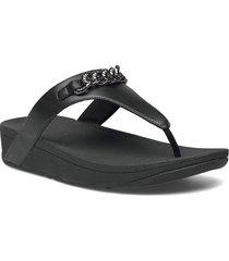 lottie chain toe-thongs shoes summer shoes flat sandals svart fitflop