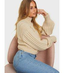 nly trend lovely chunky sweater stickade tröjor