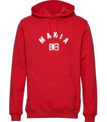 brand hooded sweatshirt hoodie röd makia