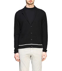 paolo pecora cardigan paolo pecora single-breasted knitted jacket